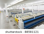 production hall of a spinning a ... | Shutterstock . vector #88581121