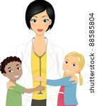 illustration of a doctor with... | Shutterstock .eps vector #88585804