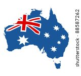 map of australia in australian... | Shutterstock .eps vector #88587262