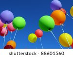 Multicolored Balloons In The...
