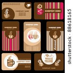 set of variety business coffee...   Shutterstock .eps vector #88618165