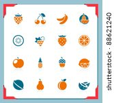 fruits icons | Shutterstock .eps vector #88621240