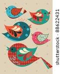 birds vector illustration | Shutterstock .eps vector #88622431