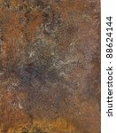 """picture painted by me, named """"Corrosion 1"""". It shows a abstract modified corroded and tarnished metallic surface - stock photo"""