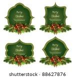 christmas frame set | Shutterstock .eps vector #88627876