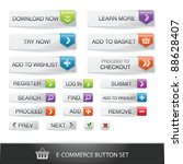 e commerce web button set with... | Shutterstock .eps vector #88628407