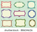 hand drawn frames  background... | Shutterstock .eps vector #88634626