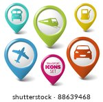 set of round 3d transport... | Shutterstock .eps vector #88639468