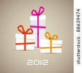 simple vector christmas gift... | Shutterstock .eps vector #88639474
