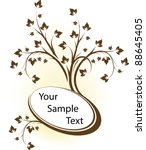 beautiful oval frame. vector | Shutterstock .eps vector #88645405