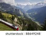 train in swiss alps | Shutterstock . vector #88649248