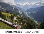 train in swiss alps   Shutterstock . vector #88649248