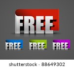 curls free trial labels design... | Shutterstock .eps vector #88649302