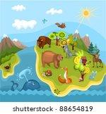 animal planet | Shutterstock .eps vector #88654819