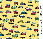 children's drawing car pattern | Shutterstock .eps vector #88657498