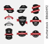 guaranteed labels with retro... | Shutterstock . vector #88660492