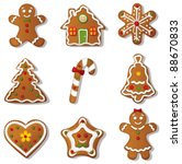 gingerbread set.vector | Shutterstock .eps vector #88670833
