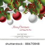 christmas background | Shutterstock .eps vector #88670848