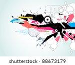 vector illustration of abstract ... | Shutterstock .eps vector #88673179