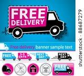 vector lorry van and delivery... | Shutterstock .eps vector #88687279