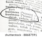 word business in the dictionary | Shutterstock . vector #88687591