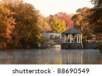 Gazebo At Lake Meer In Piedmon...