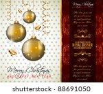 elegant classic christmas... | Shutterstock .eps vector #88691050