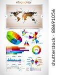 premium infographics master... | Shutterstock .eps vector #88691056