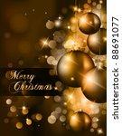 elegant classic christmas... | Shutterstock .eps vector #88691077