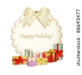 Vector Holiday Background With...