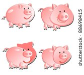 set from 4 pigs | Shutterstock .eps vector #88698415
