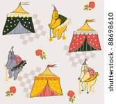 background with circus bears | Shutterstock .eps vector #88698610