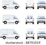 van.  set of the car icons in... | Shutterstock .eps vector #88701019