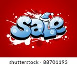 Christmas and new year sale vector cartoon illustration with snow splashes - stock vector