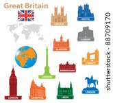 symbols city to great britain.... | Shutterstock .eps vector #88709170