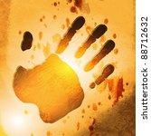 hands over sun   Shutterstock .eps vector #88712632