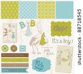scrapbook vintage design... | Shutterstock .eps vector #88718545