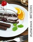 cake on plate | Shutterstock . vector #88722301