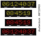 countdown timer  all numbers... | Shutterstock .eps vector #88723903