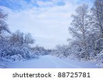 road on the frozen river | Shutterstock . vector #88725781