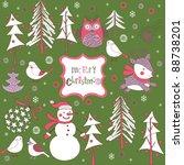 christmas background   Shutterstock .eps vector #88738201