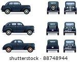 Retro Gangster Car  1930 40th ...