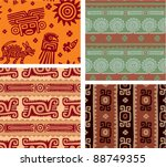 set of mexican seamless tiles | Shutterstock .eps vector #88749355