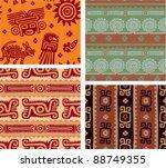 set of mexican seamless tiles   Shutterstock .eps vector #88749355