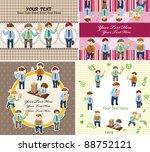 cartoon office worker card | Shutterstock .eps vector #88752121