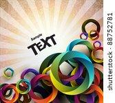 abstract vector background. | Shutterstock .eps vector #88752781