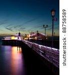 Blackpool North Pier At Dusk