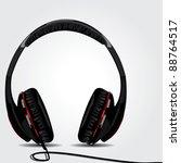 realistic vector headphone | Shutterstock .eps vector #88764517
