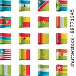 vector flags icon set. africa ... | Shutterstock .eps vector #88771345