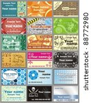 vector various business card | Shutterstock .eps vector #88772980